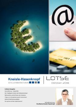 Kassenführung: Stolperfalle - Die 7 häufigsten Irrtümer der Einkommensteuer - Weihnachten und die Tücken des Schenkens - 5 Tipps zur Lohnoptimierung für Unternehmer - Sichere E-Mail-Kommunikation - Sie machen mit Ihrer GmbH Gewinn?